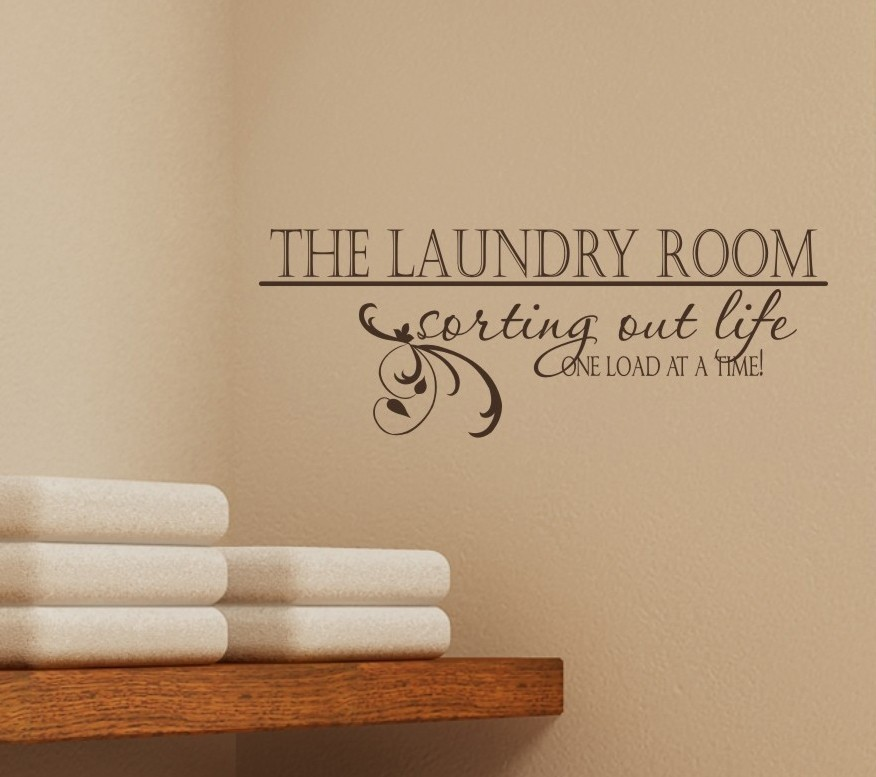 Image of: laundry room decals wall