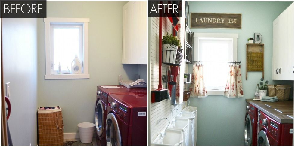 Image of: Laundry Room Makeover Before After