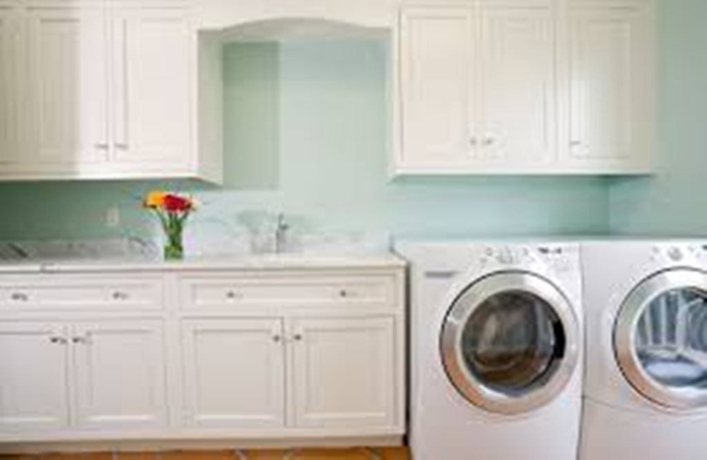 Image of: Laundry Sink Cabinet Combo Costco