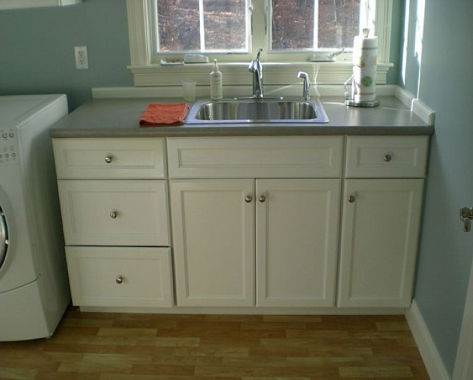 Image of: Laundry Sink Cabinet Combo Menards