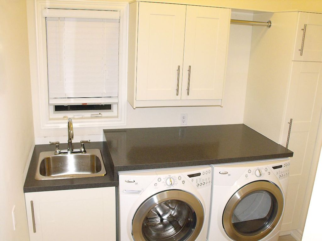 Image of: Laundry Sink Cabinet Sears