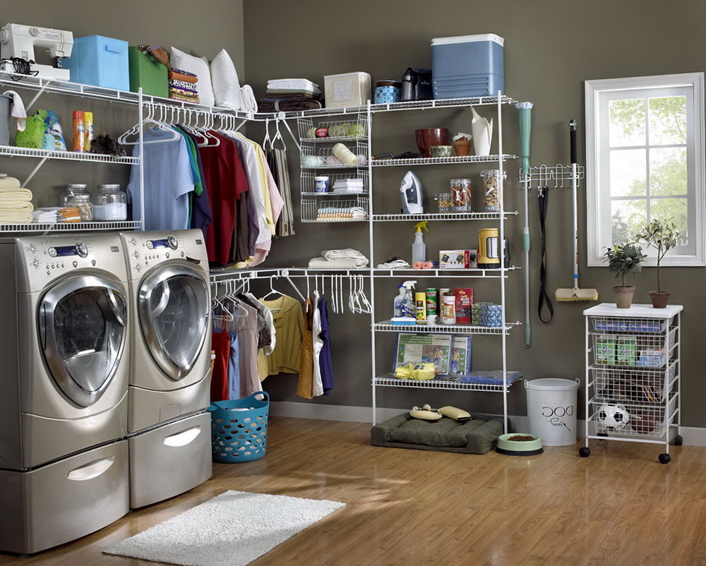 Image of: Lowes Laundry Room Organizer
