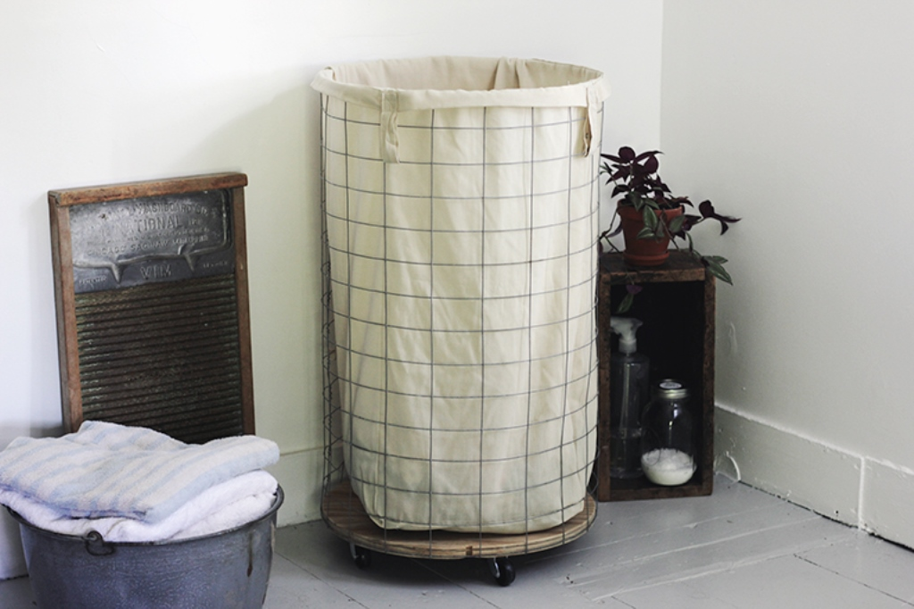 Image of: metal laundry hamper and sorter