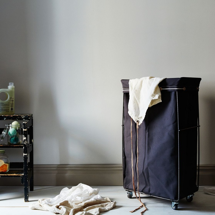 Image of: narrow laundry hamper fabric