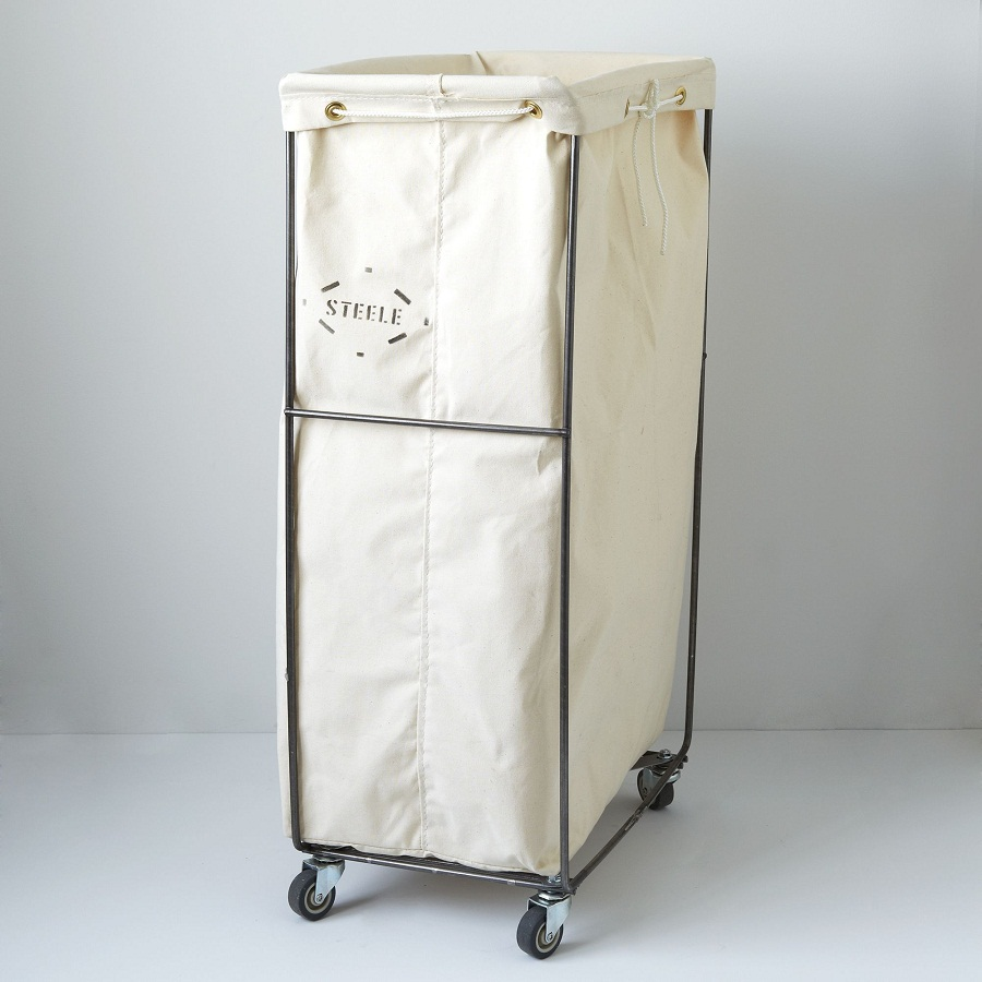 Image of: Narrow Laundry Hamper On Wheel