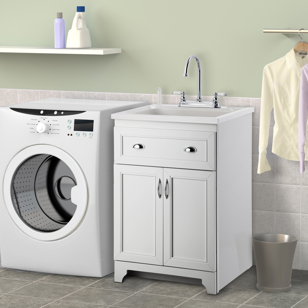 Image of: new stainless steel laundry sink