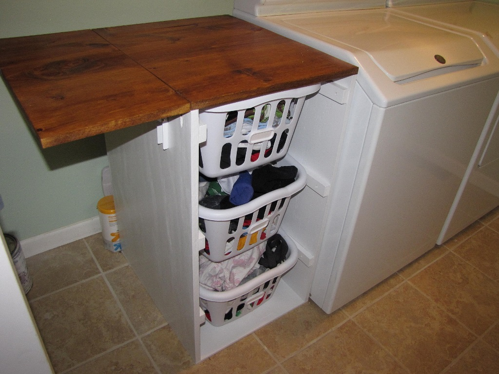Image of: rolling laundry cart ideas
