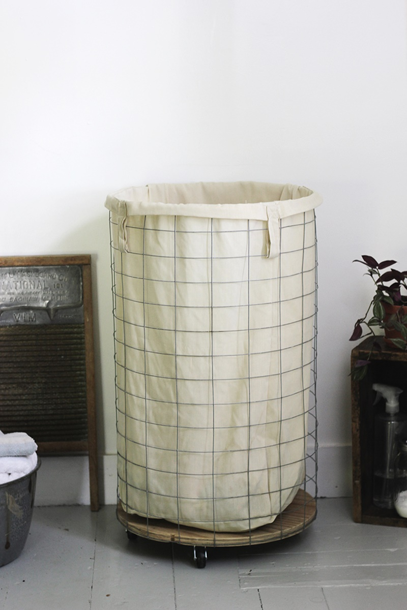 Image of: rolling laundry hamper designs