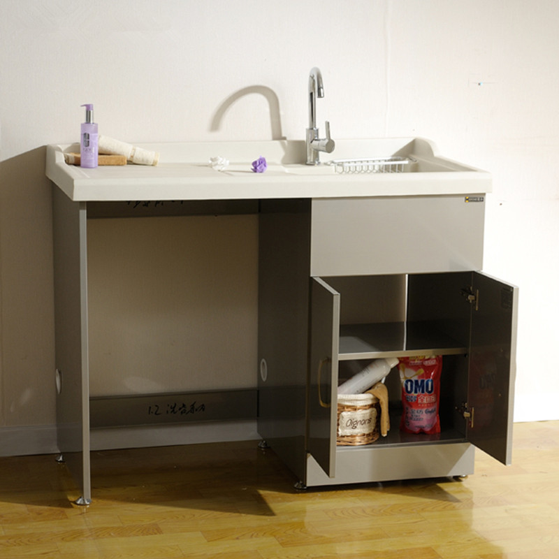 small-stainless-steel-laundry-sink
