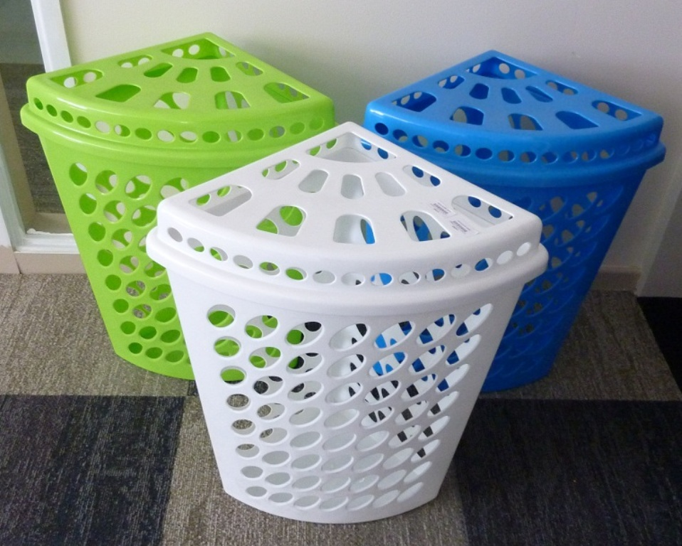 Image of: Stackable Laundry Baskets With Lids