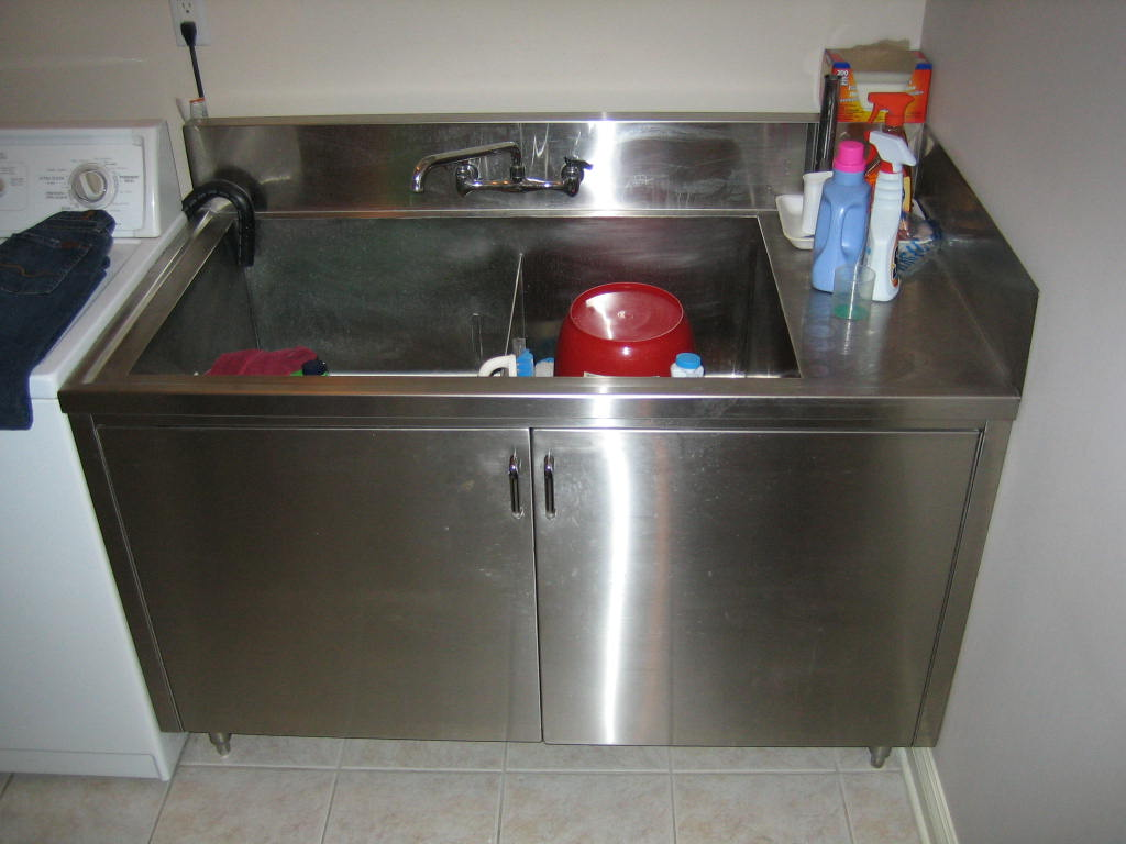 Image of: stainless steel laundry sink picture