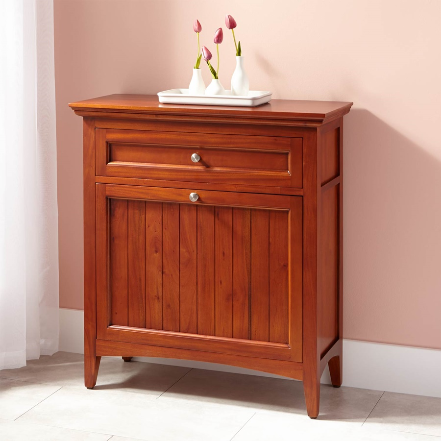 Image of: Tilt Out Laundry Hamper Light Cherry