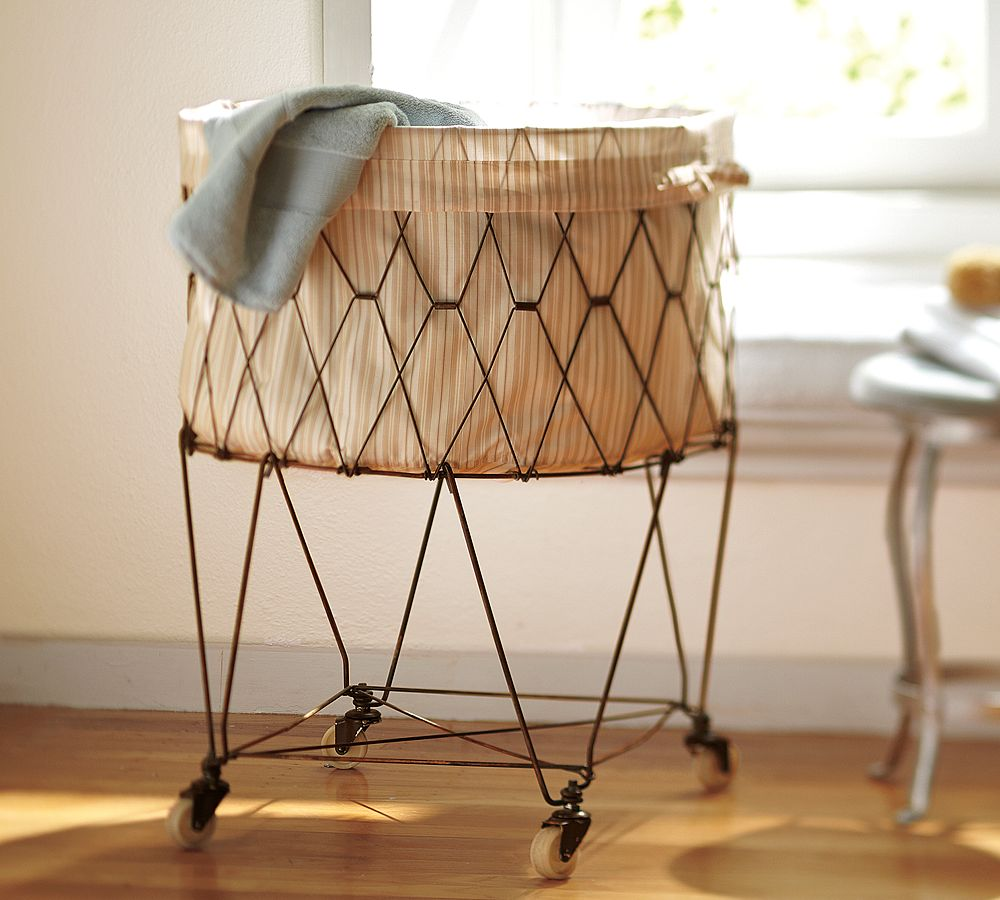 Image of: Top Laundry Cart On Wheels