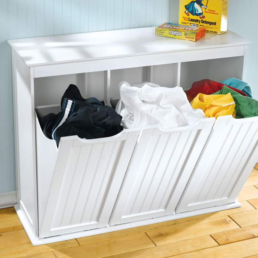 Image of: Triple Tilt Out Laundry Hamper