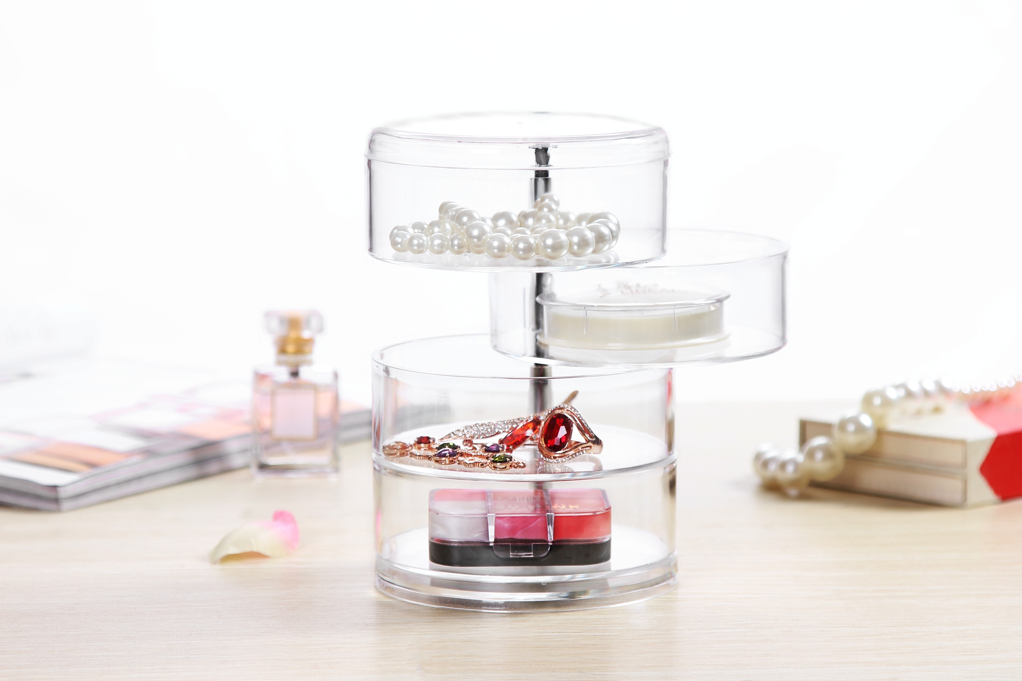 Image of: Acrylic Desk Organizer Set