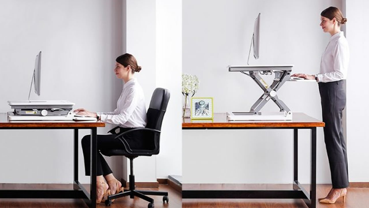 Image of: Adjustable Desk Riser by the House of Trade