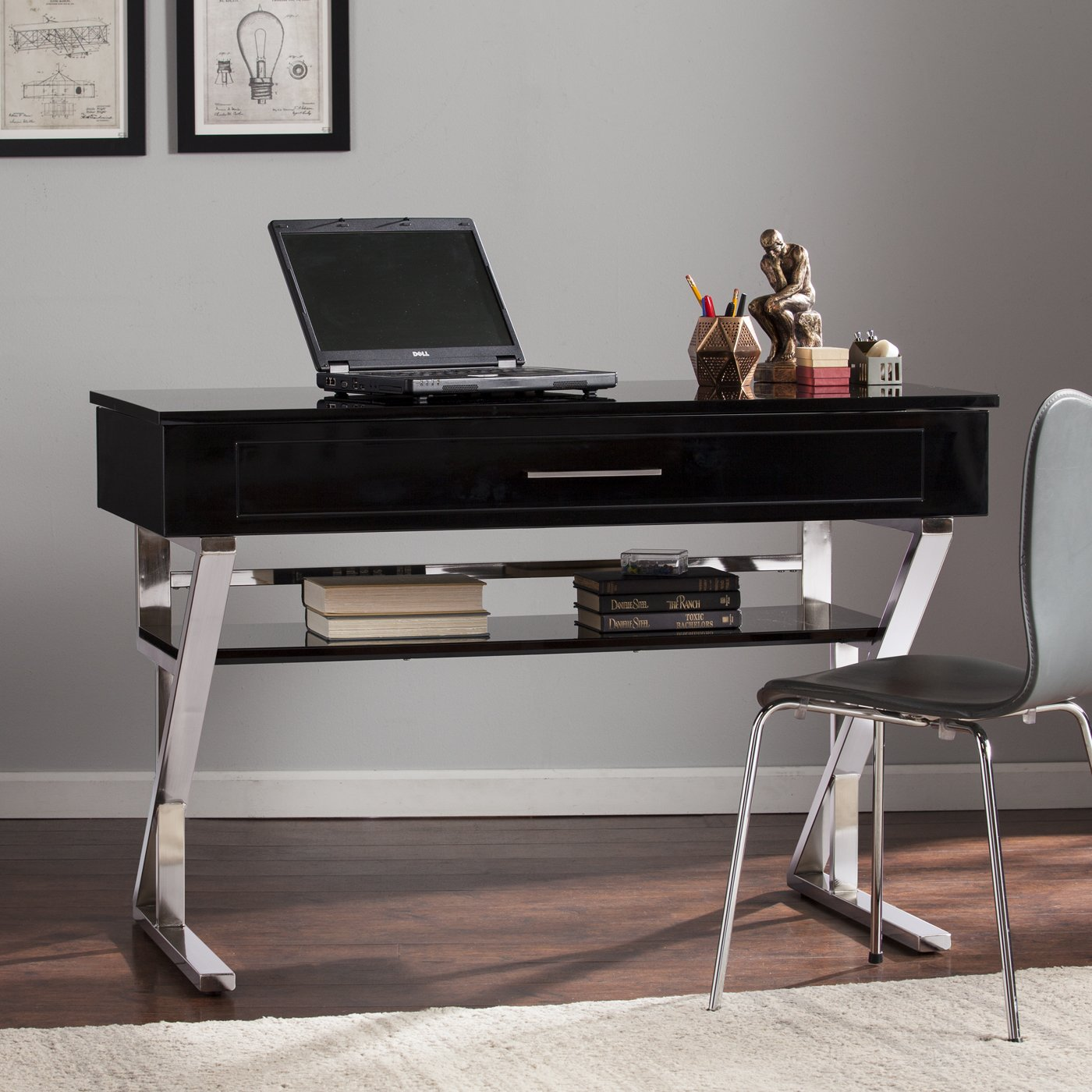 Adjustable Height Computer Desk Modern