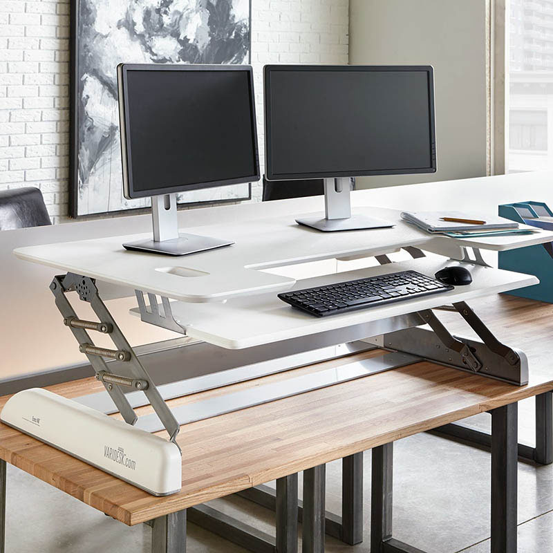 Image of: Adjustable Height Computer Desk Standing