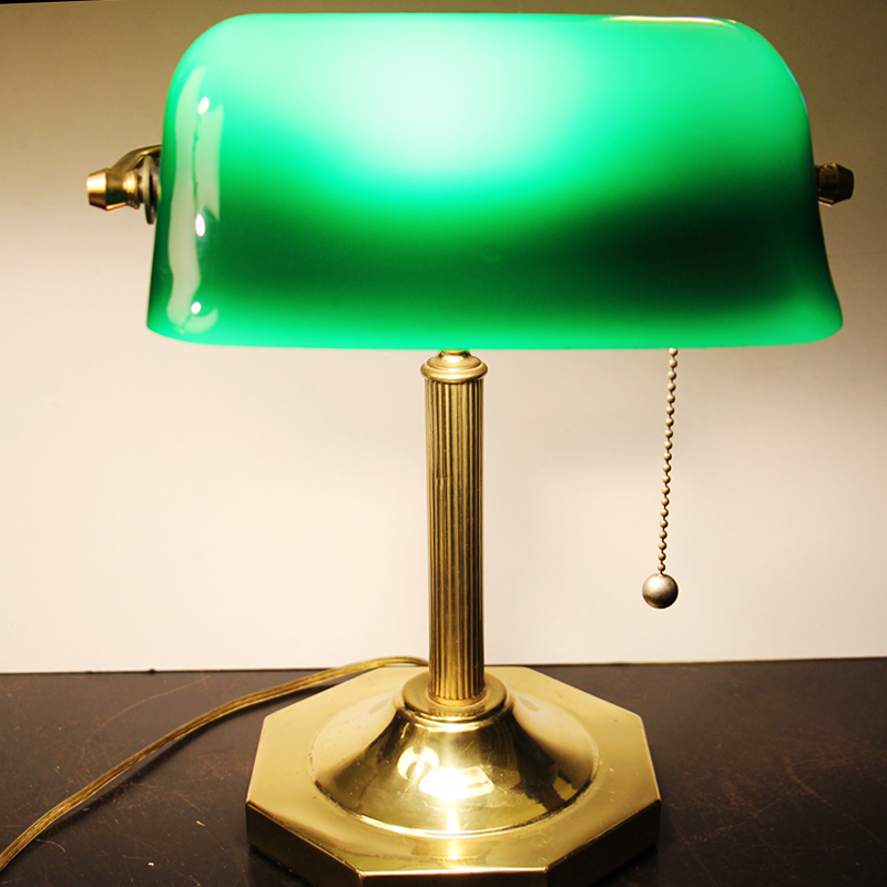 Image of: Antique Brass Desk Lamp Design