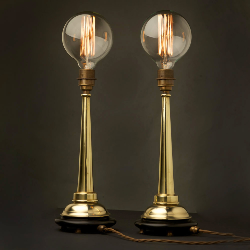 Image of: Antique Brass Desk Lamp Globe