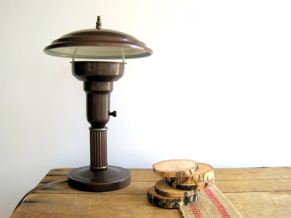 Antique Brass Desk Lamp Office
