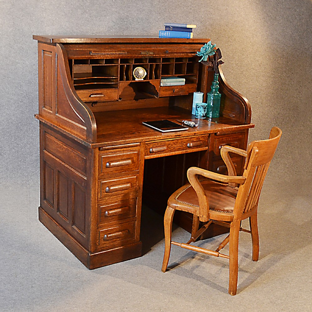 Antique Roll Top Desk Furniture