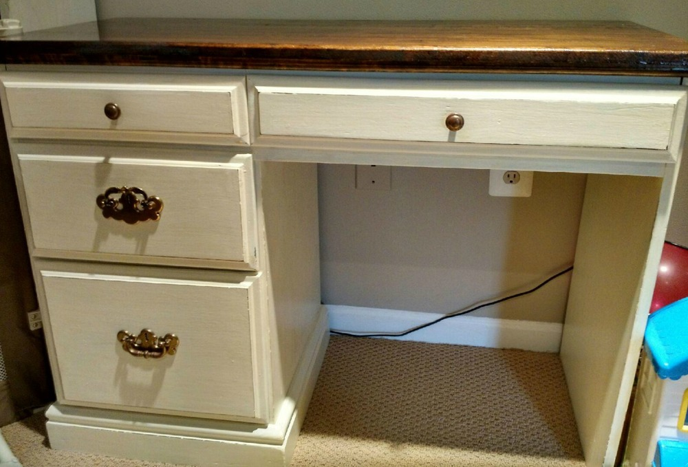 Image of: Antique White Desk Ideas