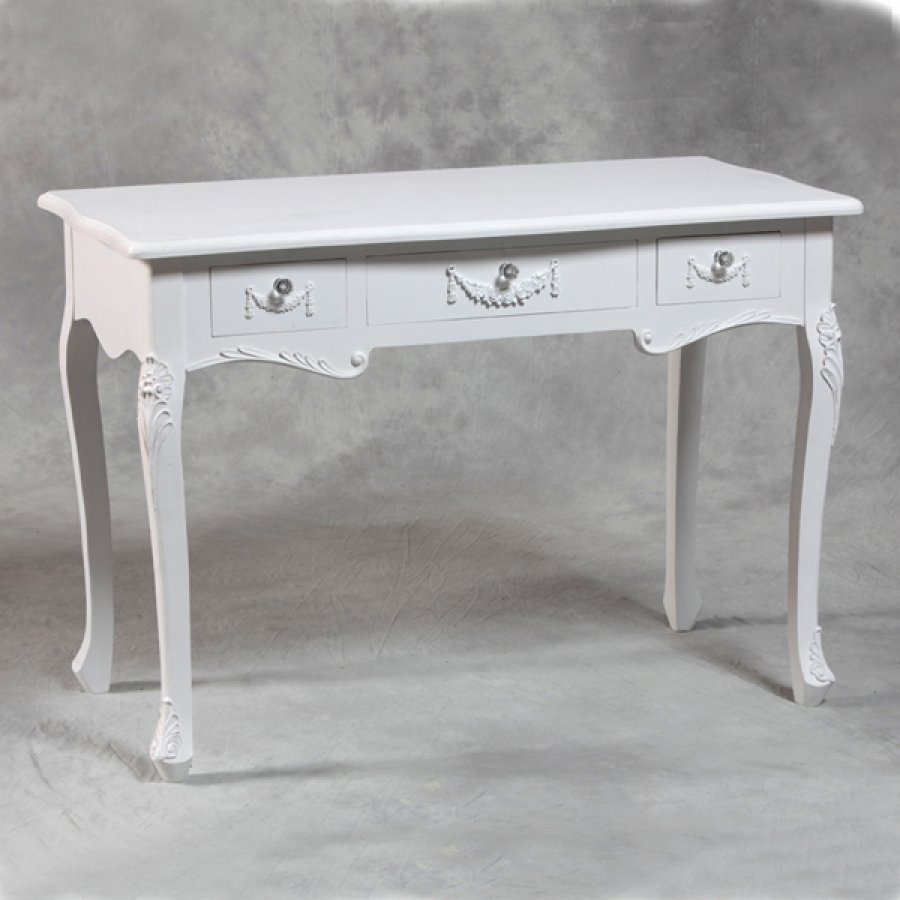 Image of: Antique White Desk Paint