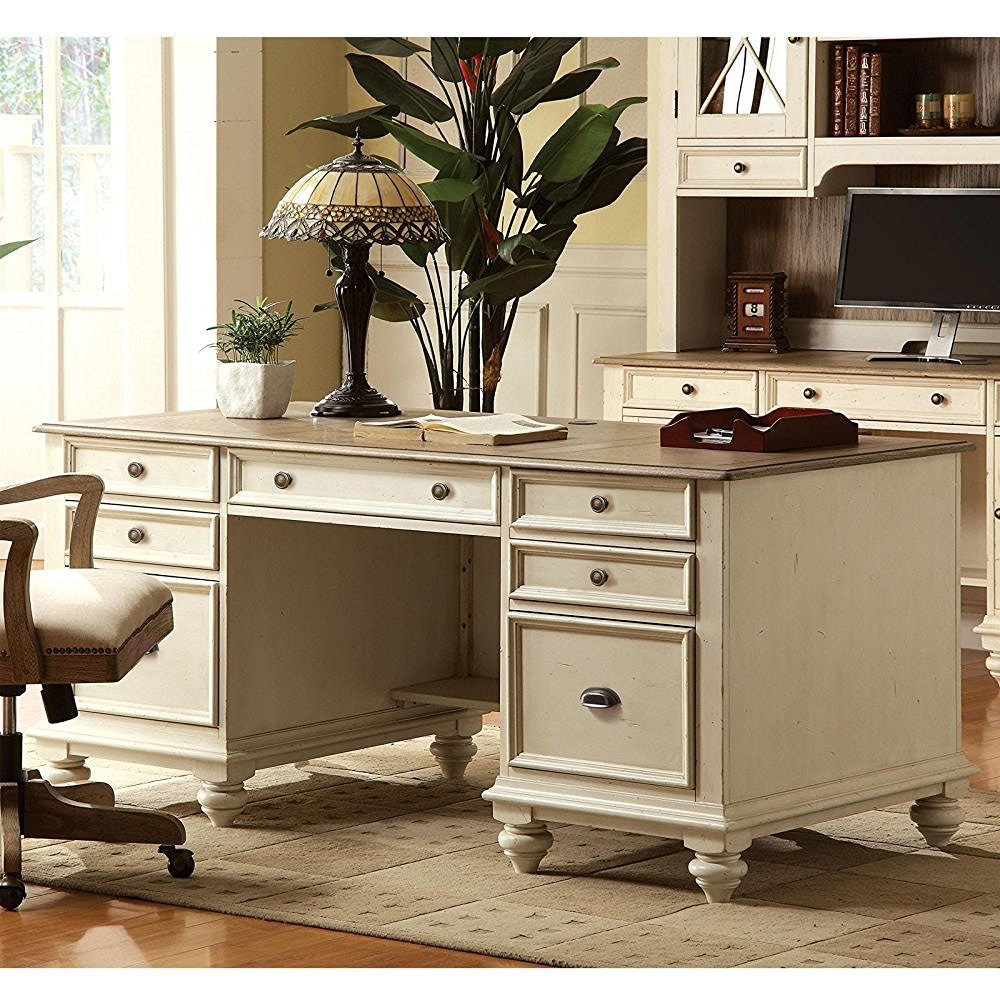 Image of: Antique White Desk Office