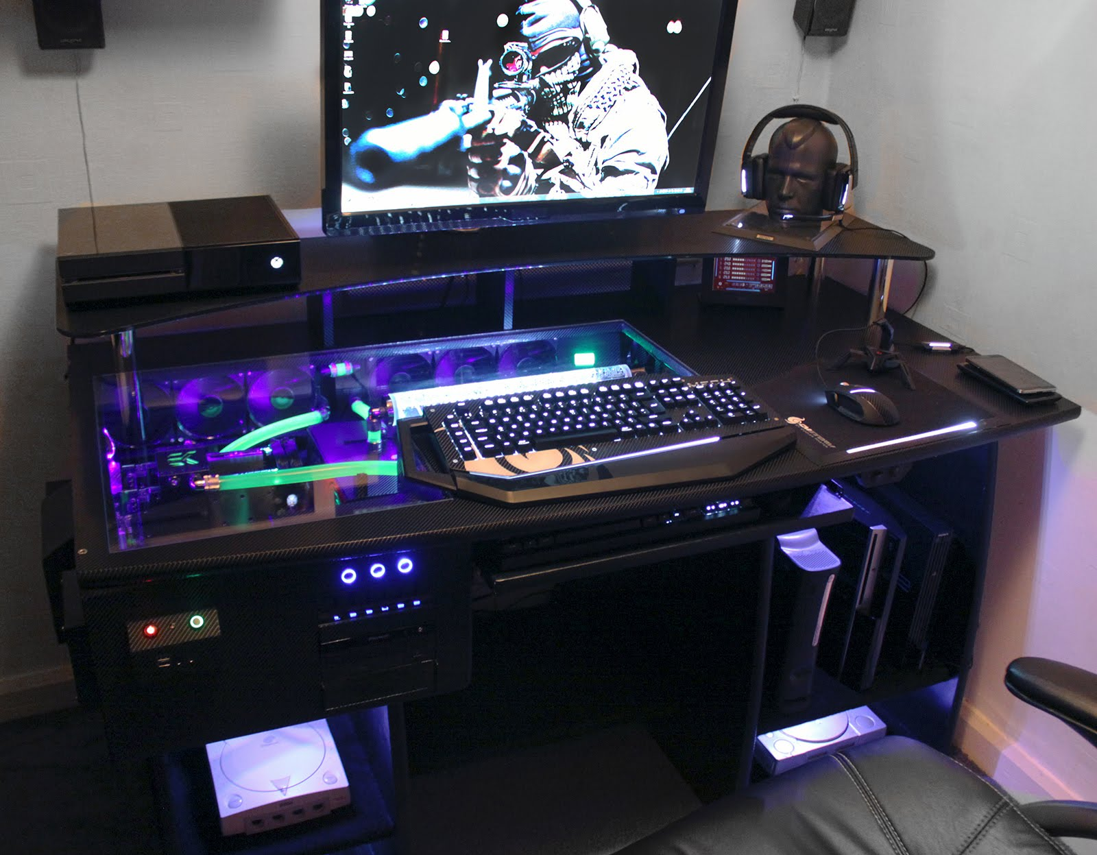 Image of: Atlantic Gaming Desk Home