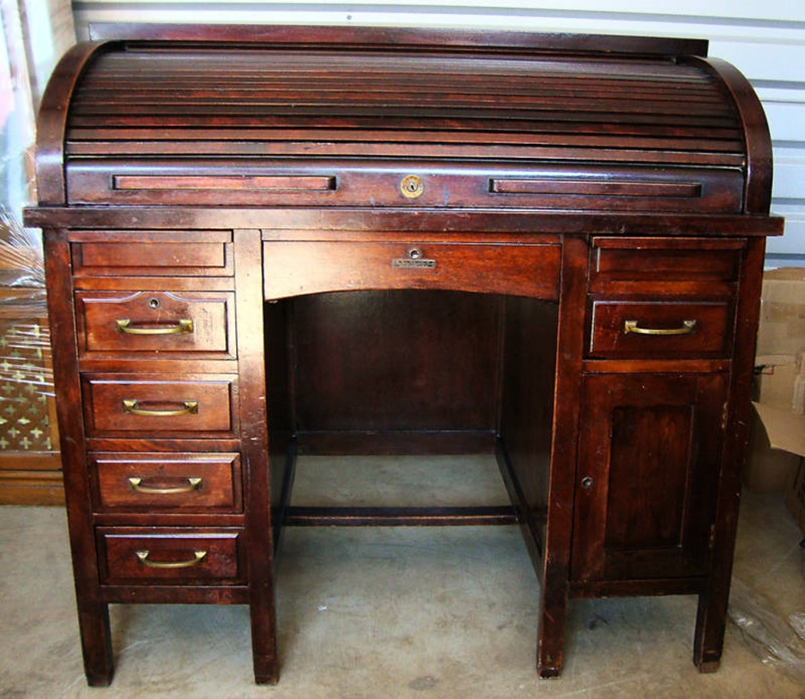 Image of: Awesome Antique Roll Top Desk