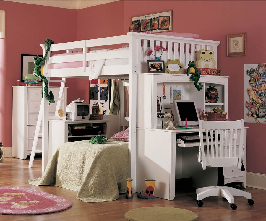 Image of: Awesome Bunk Bed with Desk Cheap