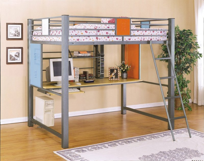 Image of: Awesome Bunk Beds for Kids with Desk
