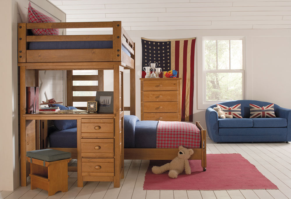 Image of: Awesome Bunk Beds With A Desk