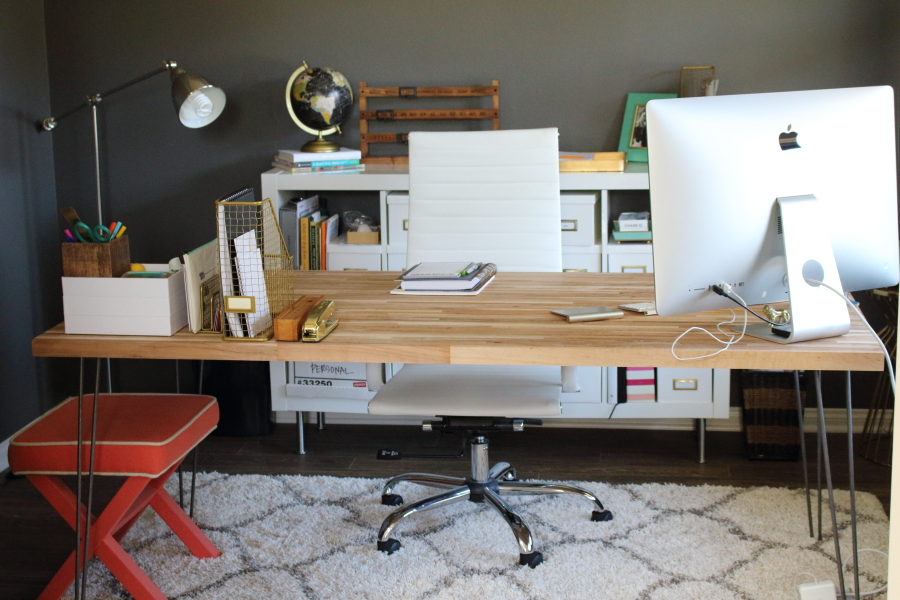 Awesome Butcher Block Desk