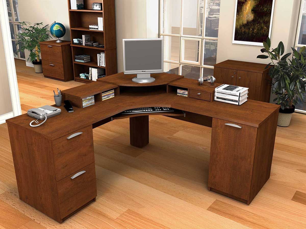 Image of: Beautiful Antique Computer Desk