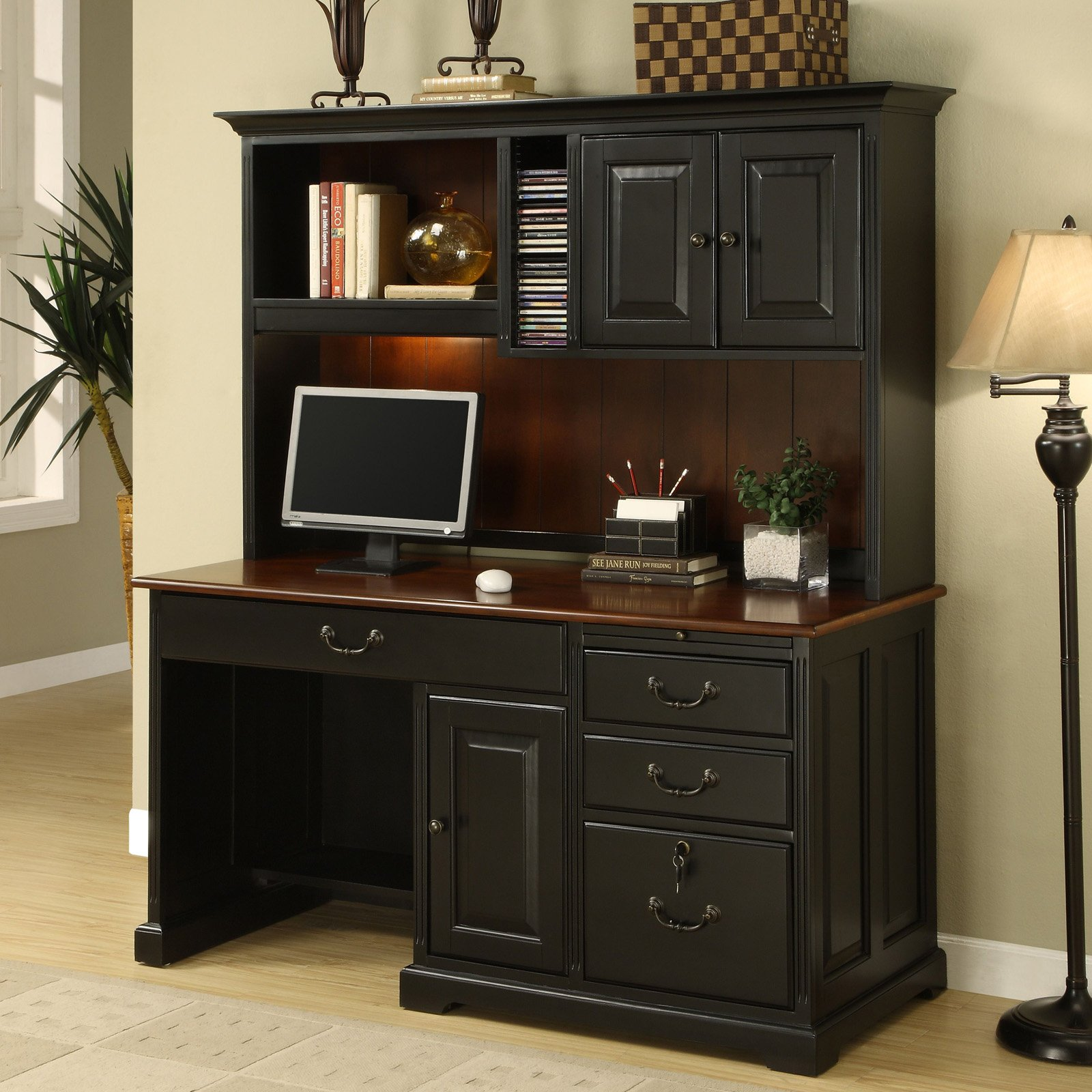 Beautiful Corner Secretary Desk