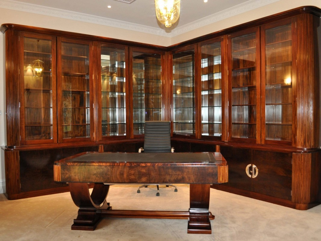 Image of: Best Antique Executive Desk
