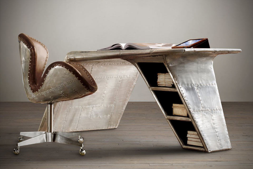 Image of: Best Aviator Wing Desk