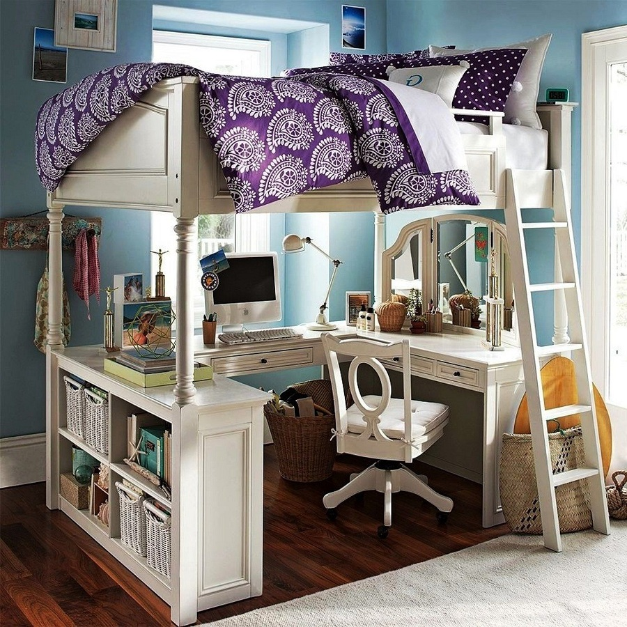 Image of: Best Bunk Bed with Desk Underneath