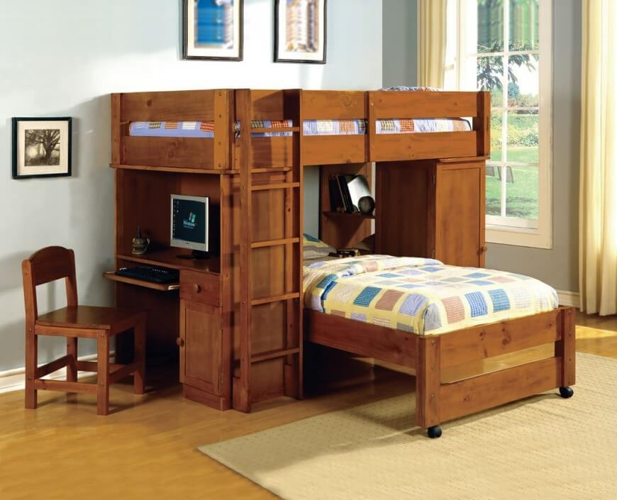 Image of: Best Bunk Beds for Kids with Desk