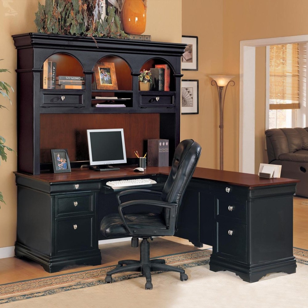 Image of: Big Black Corner Desk