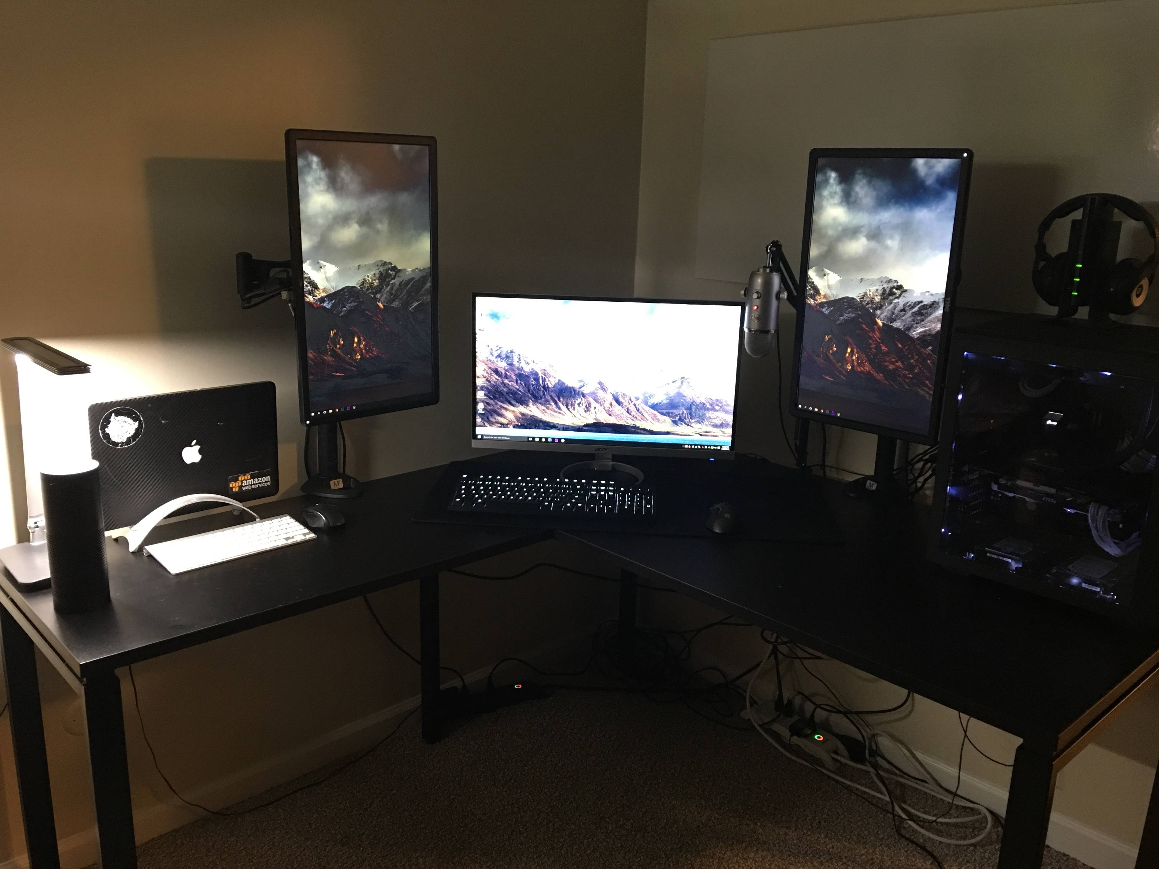 Image of: Black Best Pc Desk