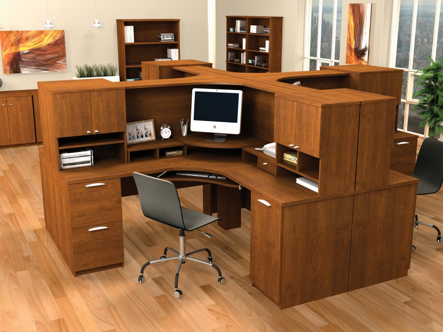 Image of: Brown Corner Desk Office