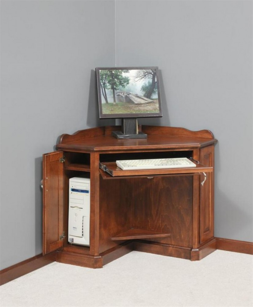 Image of: Brown Corner Desk Size