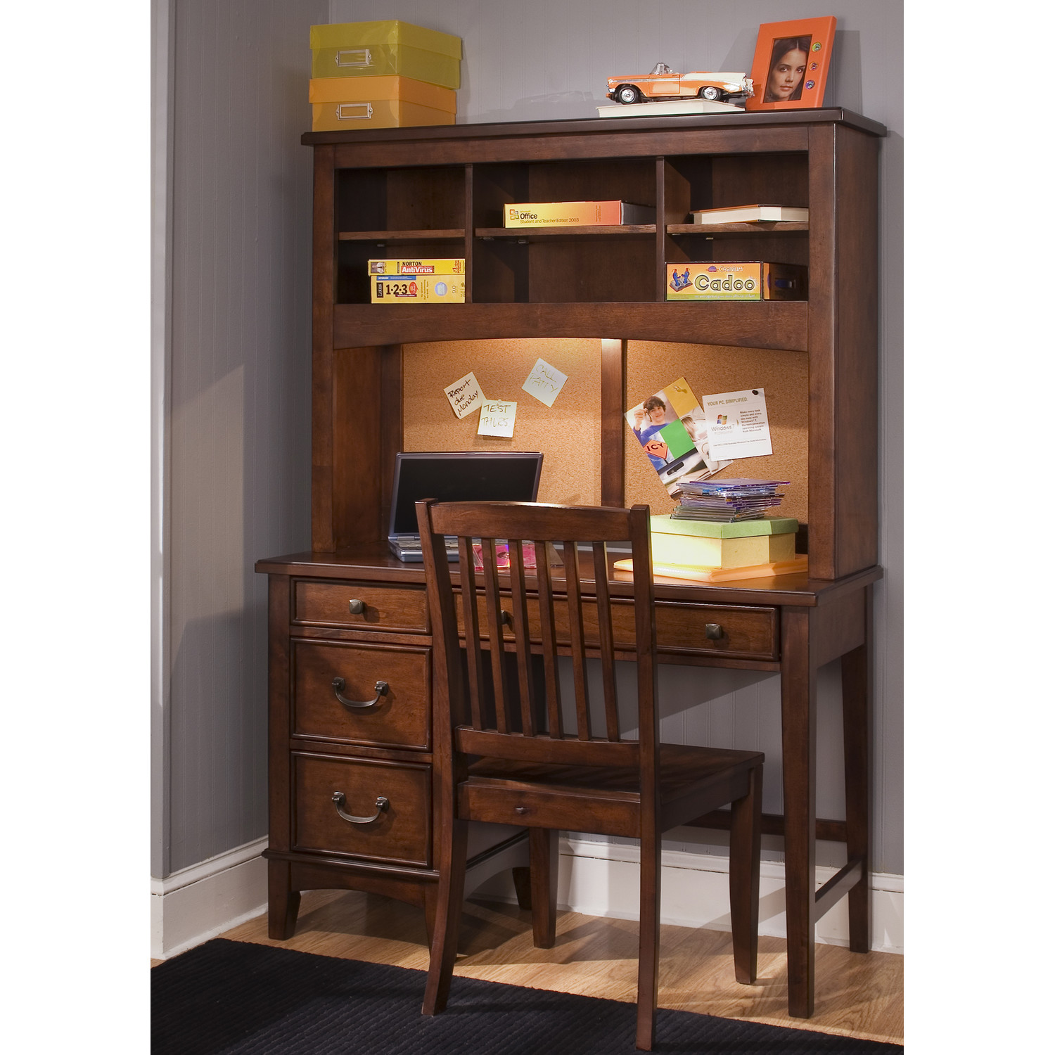 Image of: Brown Corner Desk And Chair