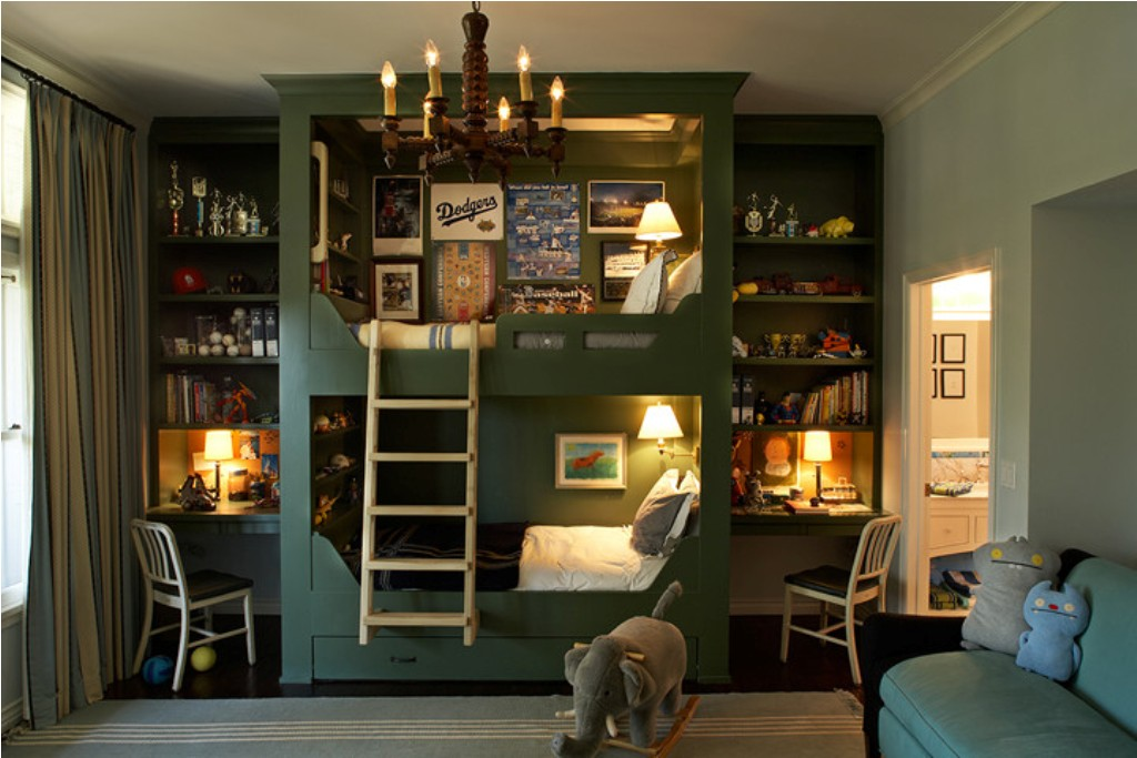 Image of: Bunk Bed With Built In Desk Idea