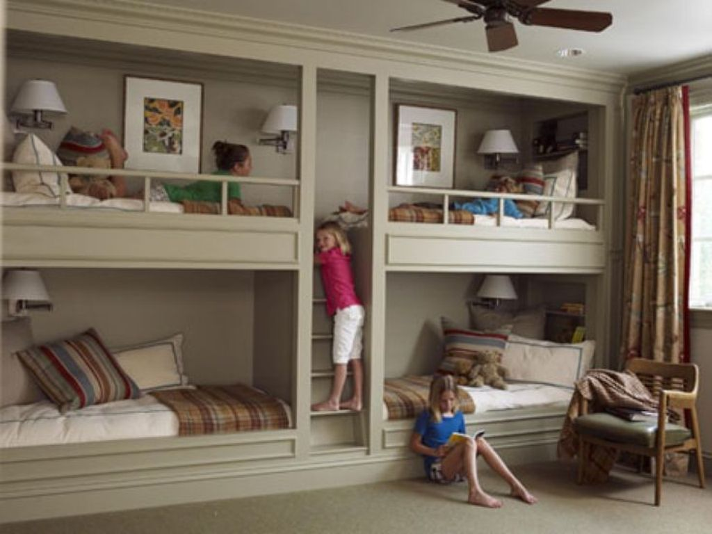 Image of: Bunk Bed With Built In Desk And Drawers