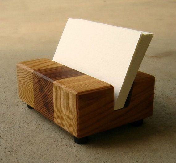 Image of: Business Card Holder Desk Design