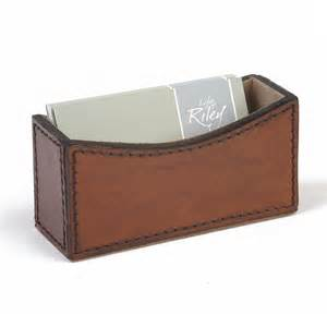 Image of: Business Card Holder Desk Leather